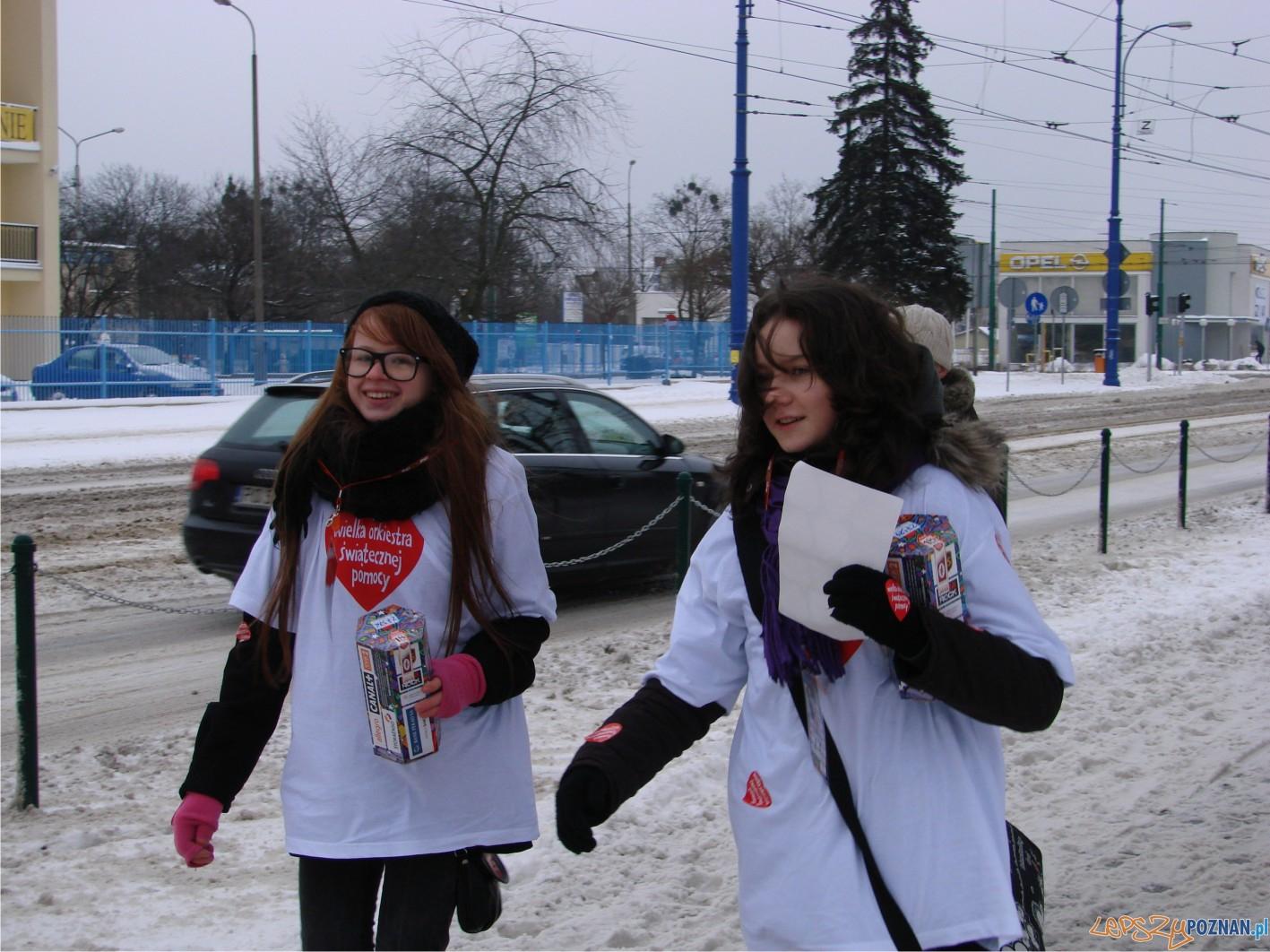 na Kórnickiej również spotkaliśmy uśmiechnięte wolontariuszki  Foto: