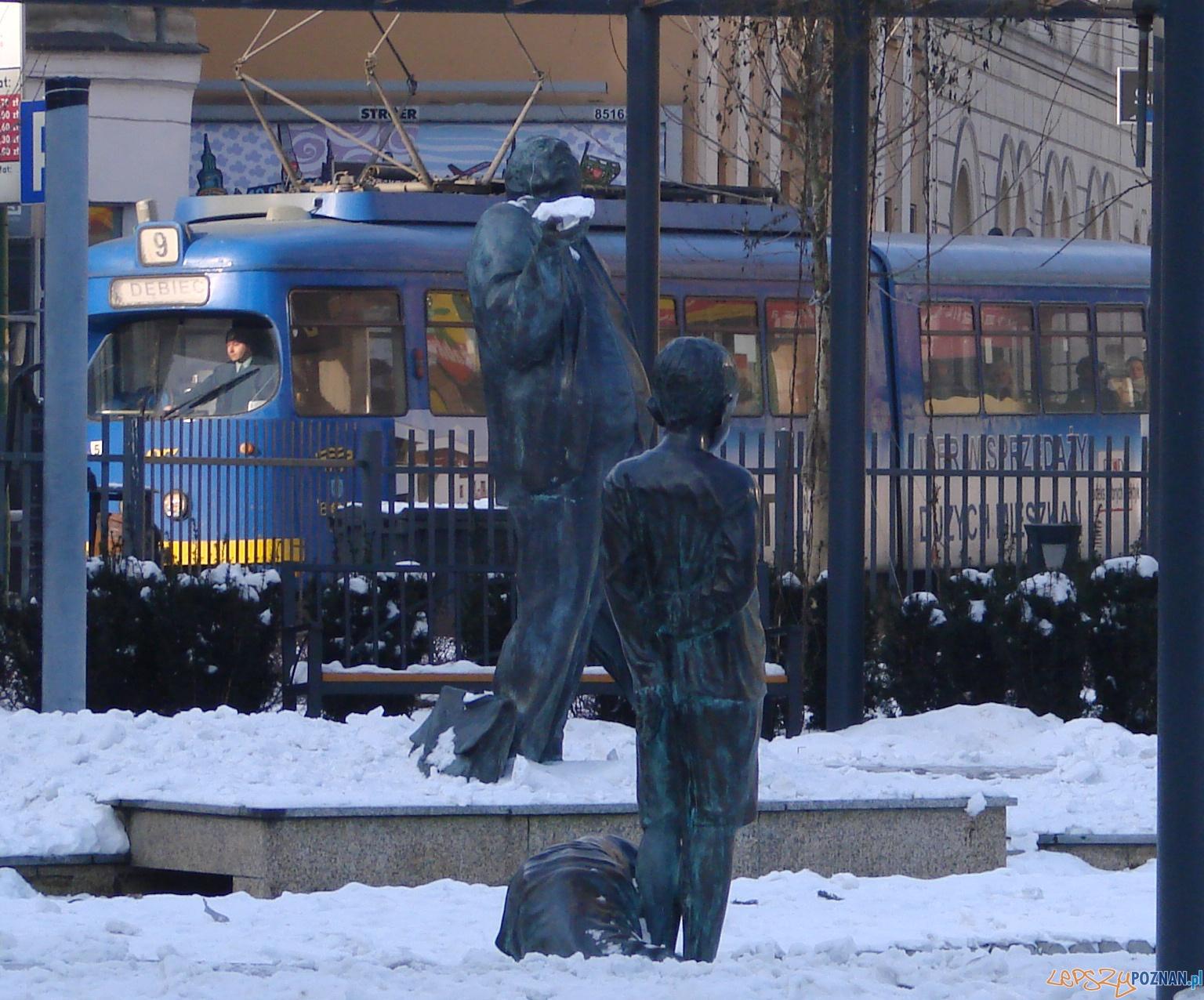 Park przy ul. Zielonej - widok na Strzelecką  Foto: