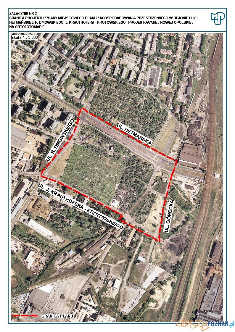 II etap konsultacji społecznych - mpzp dla obszaru w rejonie ulic: Hetmańskiej, R. Dmowskiego, J. Krauthofera - Krotowskiego i projektowanej Nowej Opolskiej  Foto: