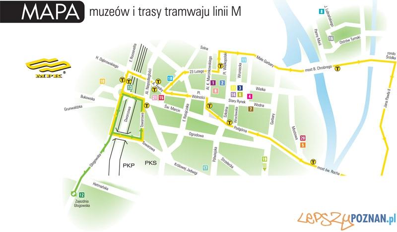 Noc muzeów - mapa linii i muzeów  Foto: