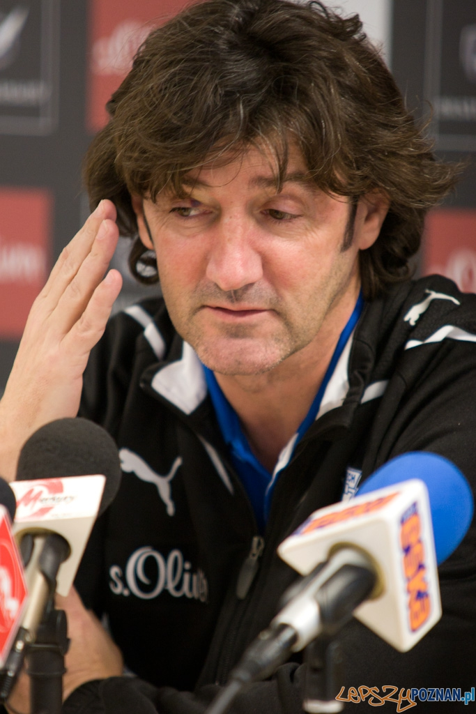 Trener Lecha Poznañ - Jose Maria Bakero  Foto: Piotr Rychter