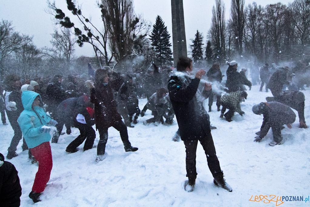 Pierwsza Poznańska Bitwa na Śnieżki  Foto: Piotr Rychter