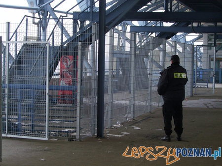 Wizytacja stadionu przy Bułgarskiej  Foto: Komenda Wojewódzka Policji w Poznaniu