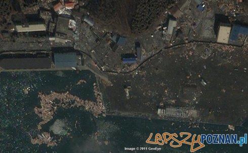 zdjęcia satelitarne pokazują ogrom zniszczeń w japońskich miastach  Foto: Storyful - Google/GeoEye