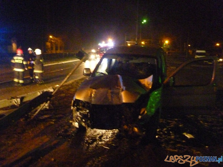 wypadek w Owińskach  Foto: KM PSP
