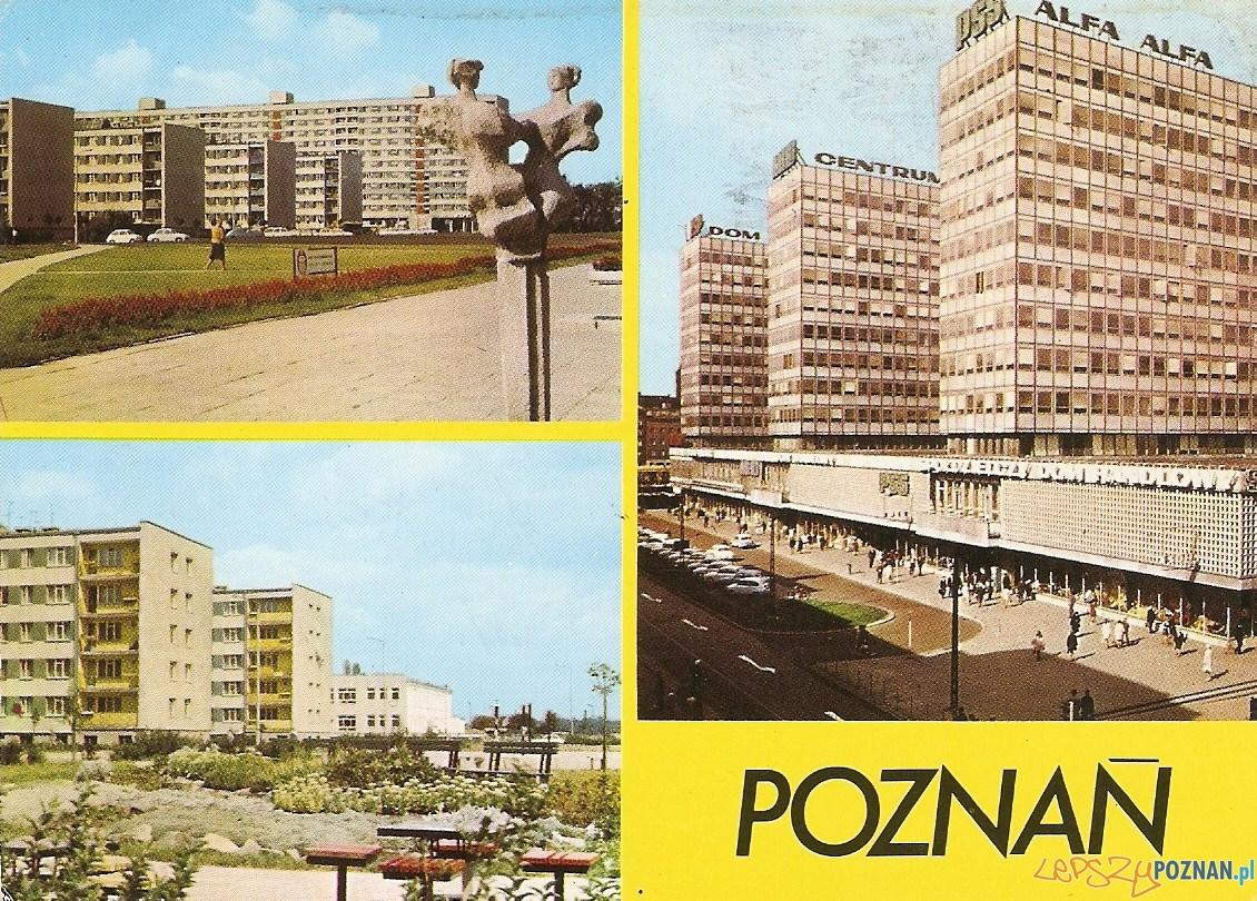 Poznań pocztówka początek lat 80  Foto: fotopolska