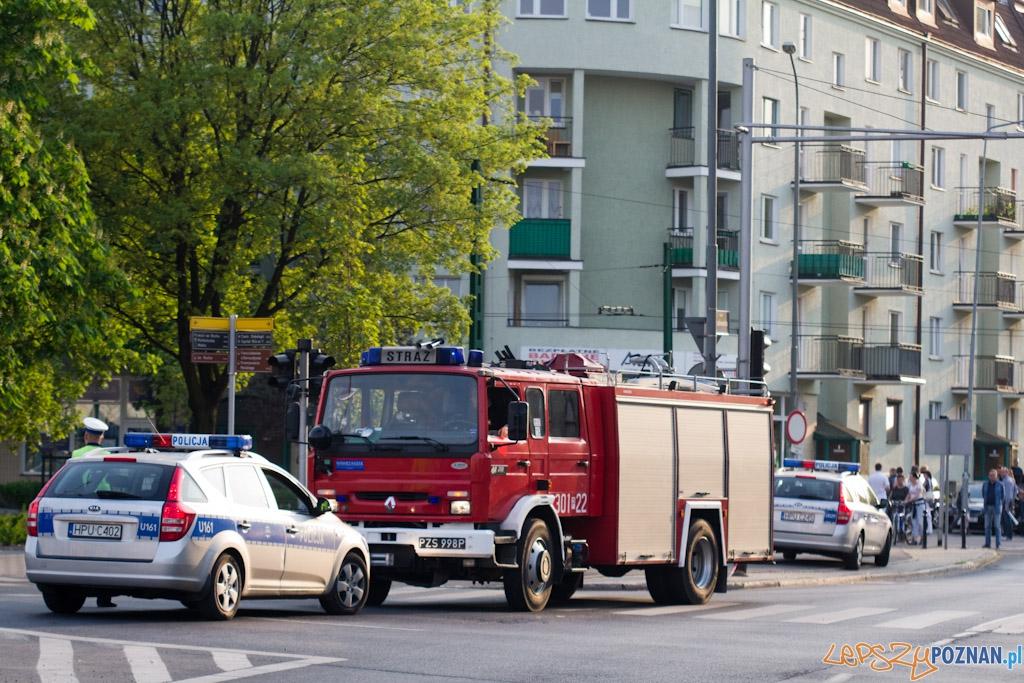 Alarm bombowy na Strzeleckiej  Foto: lepszyPOZNAN.pl / Piotr Rychter