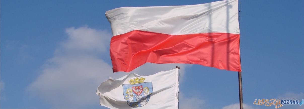 flaga polski flaga poznania  Foto: lepszyPOZNAN.pl