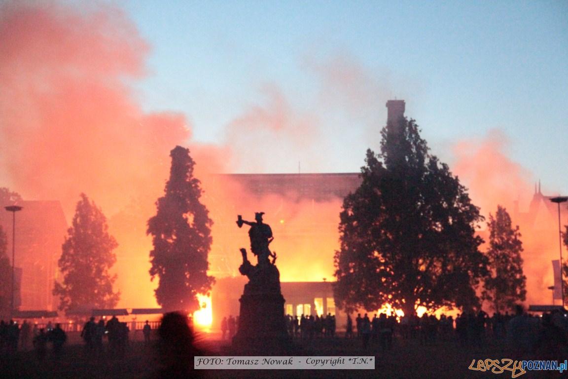 100 lat Palmiarni Poznańskiej - pożar  Foto: Tomasz Nowak