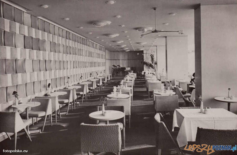 Kawiarnia w Hotelu Merkury, rok 1966  Foto: fotopolska