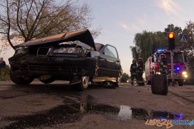 Wypadek na skrzyżowaniu ulic Dmowskiego i Klaudyny Potockiej.  Foto: lepszyPOZNAN.pl / Piotr Rychter
