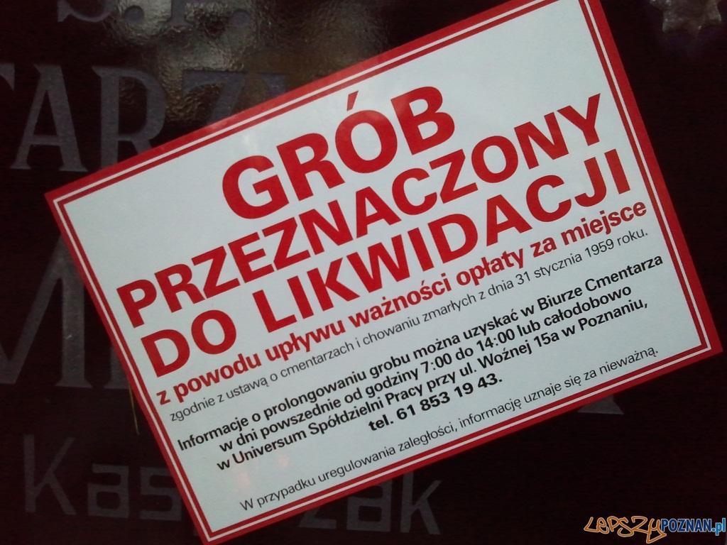 Grób przeznaczony do likwidacji  Foto: lepszyPOZNAN.pl / ag