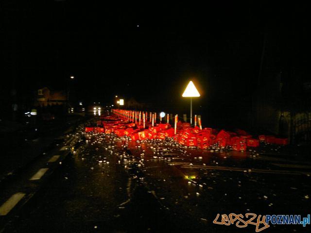 Droga piwna - wypadek w Lubini Małej  Foto: G. Szwajkowski