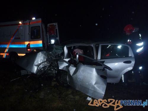 Wypadek w Uchorowie  Foto: Rafał Pułkowski