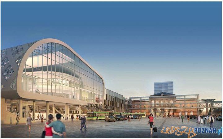 Wizualizacja budowy nowego dworca  Foto: Facebook - Poznań City Center