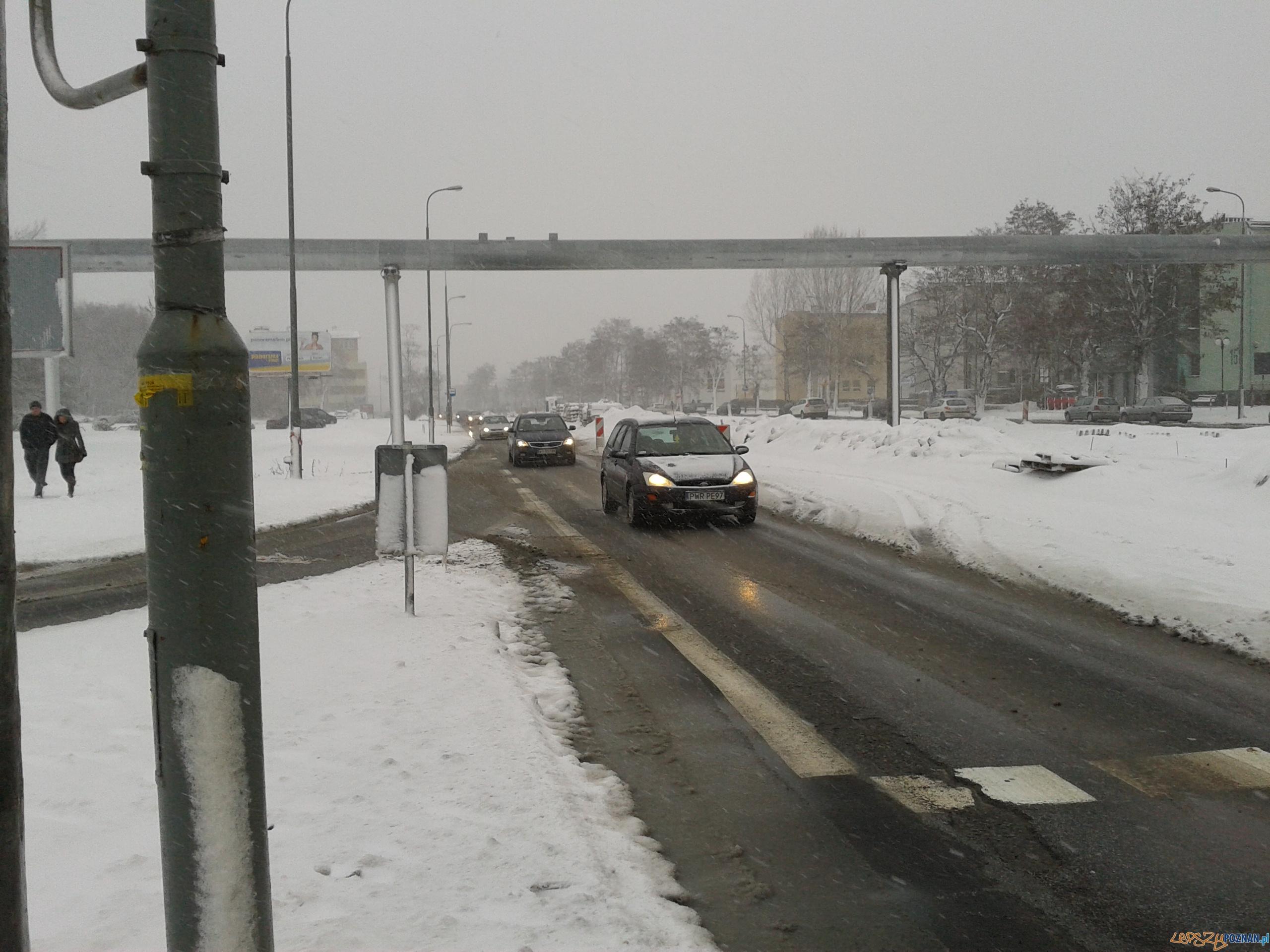 Grunwaldzka w śniegu  Foto: Paweł