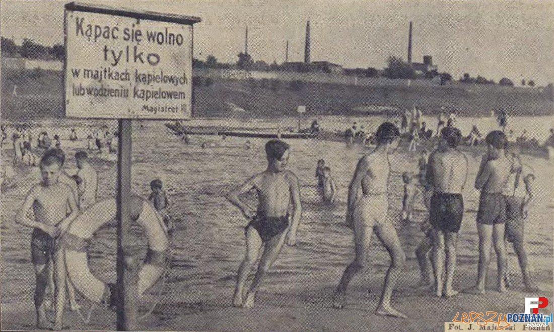 Kąpielisko miejskie nad Wartą, zwane Bocianka (Ilustracja Poznańska nr 31, r.1932)  Foto: fotopolska.eu