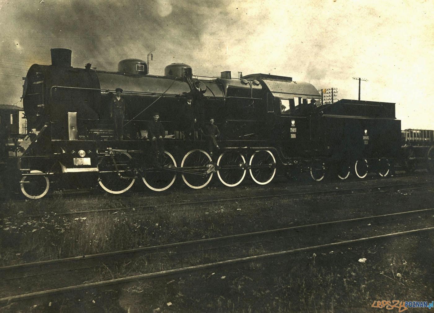 Parowóz w Zakładach Cegielskiego rok 1929  Foto: Parowóz w Zakładach Cegielskiego rok 1929