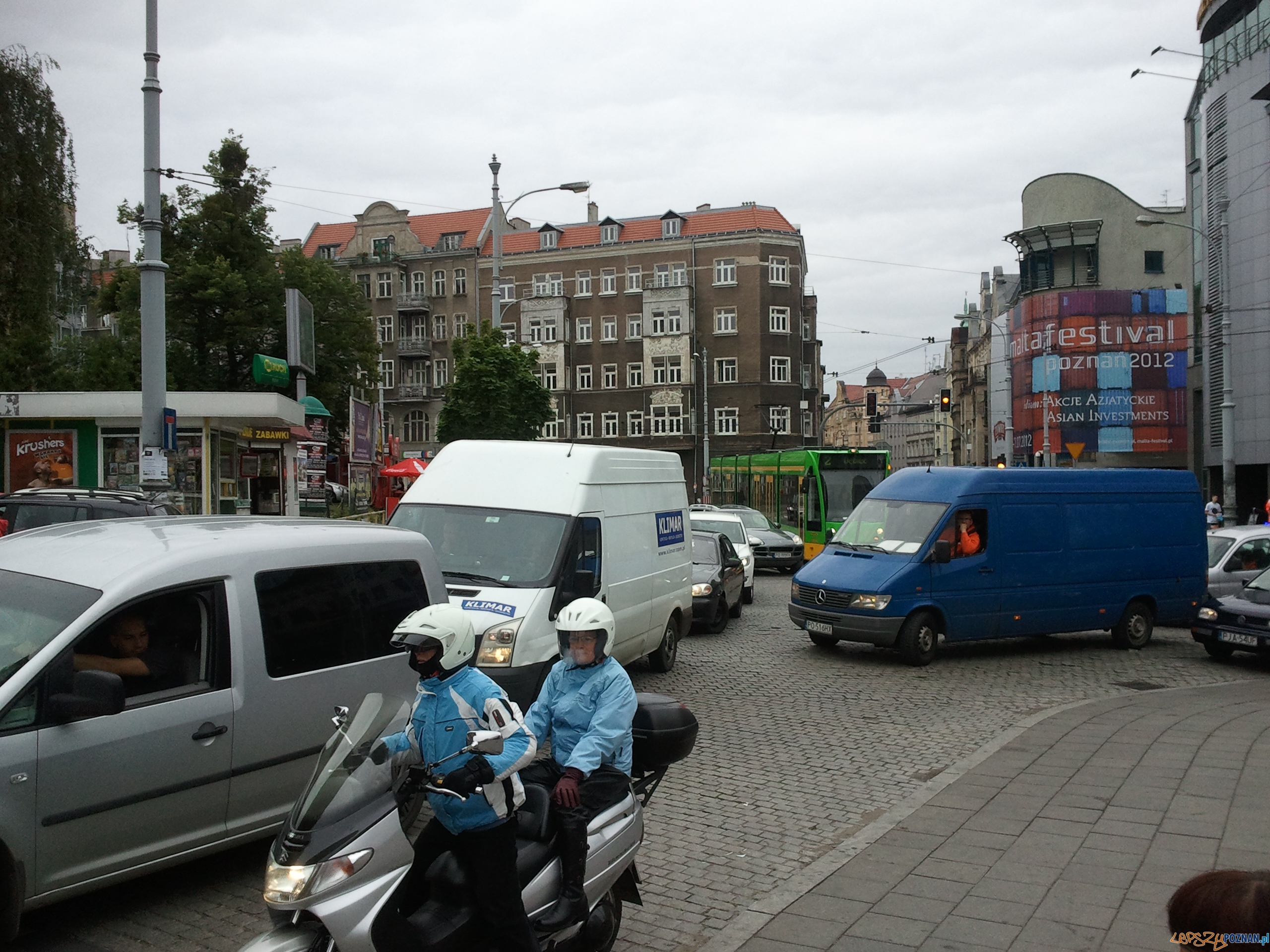 Zakorkowane centrum  Foto: Paweł