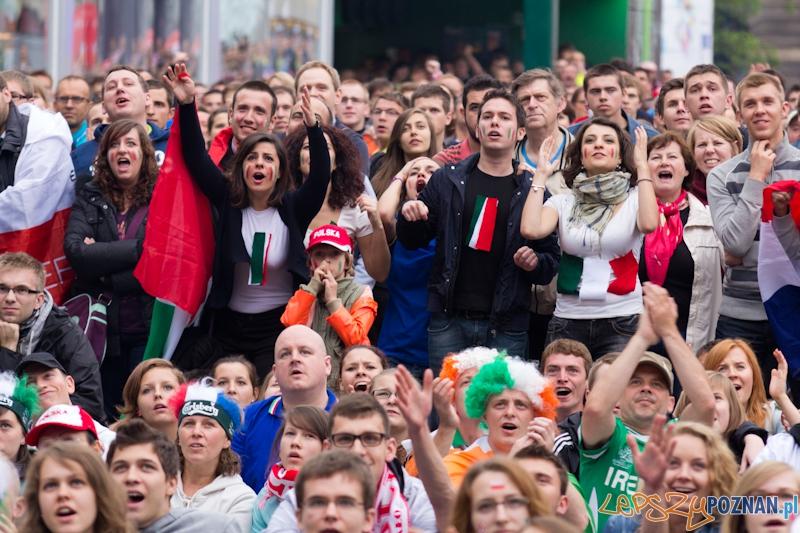 Mecz Chorwacja - Włochy - Oficjalna Strefa UEFA Euro na placu Wolności  Foto: lepszyPOZNAN.pl / Piotr Rychter