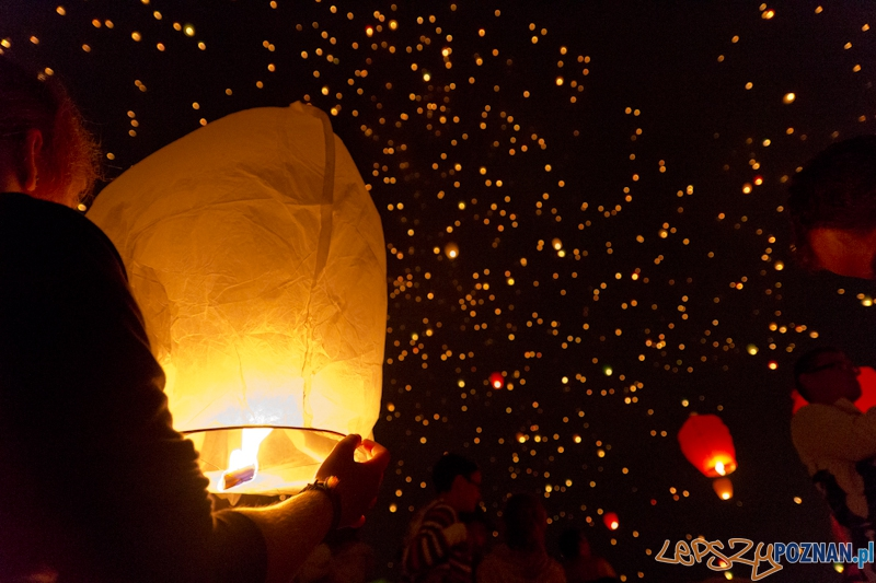 Noc Kupały 2012  - lampiony nad Poznaniem  Foto: lepszyPOZNAN.pl / Piotr Rychter