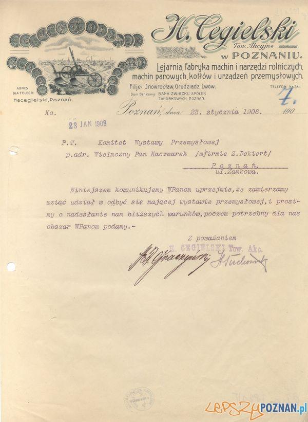 Cegielski - Strzelecka 14  Foto: Muzeum Narodowe w Poznaniu, wystawa Miejska ikonosfera na drukach reklamowych z widokami Poznania 18