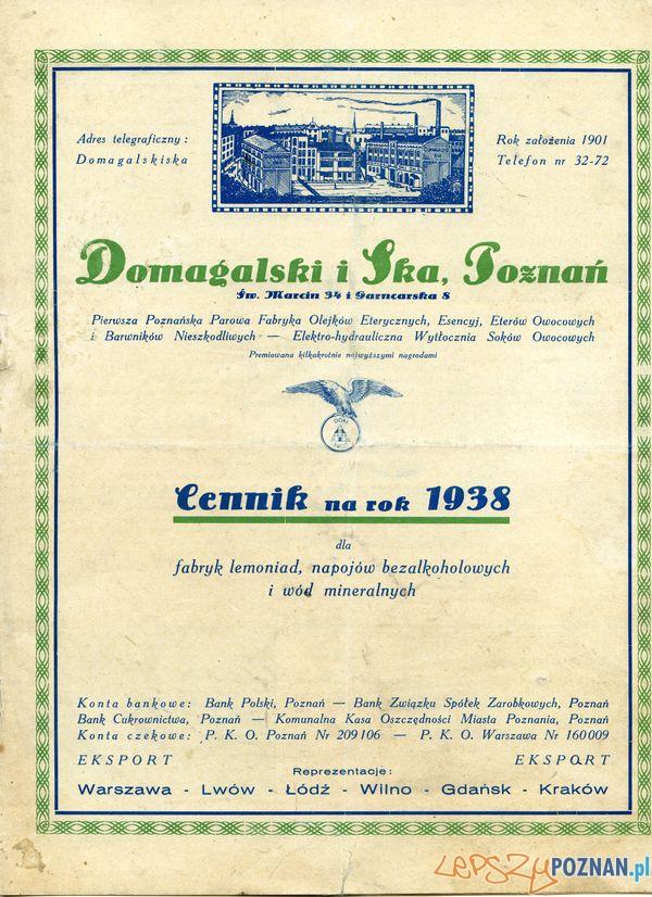 Domagalski i spółka cennik Sw. marcin 63_ 1937 - wł._ str. 1  Foto: Muzeum Narodowe w Poznaniu, wystawa Miejska ikonosfera na drukach reklamowych z widokami Poznania 18