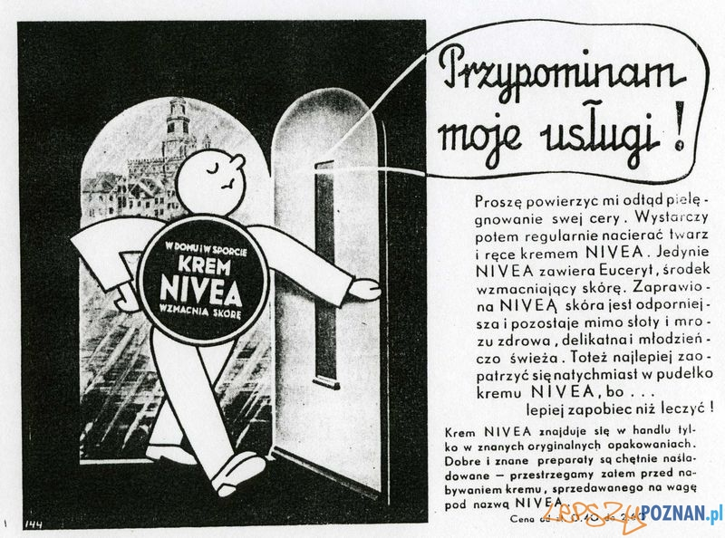 Reklama Nivea  Foto: Muzeum Narodowe w Poznaniu, wystawa Miejska ikonosfera na drukach reklamowych z widokami Poznania 18