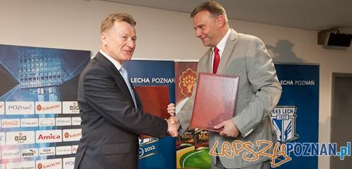 Sokołow będzie sponsorował Lecha  Foto: lechpoznan.pl/Filip Furmańczak