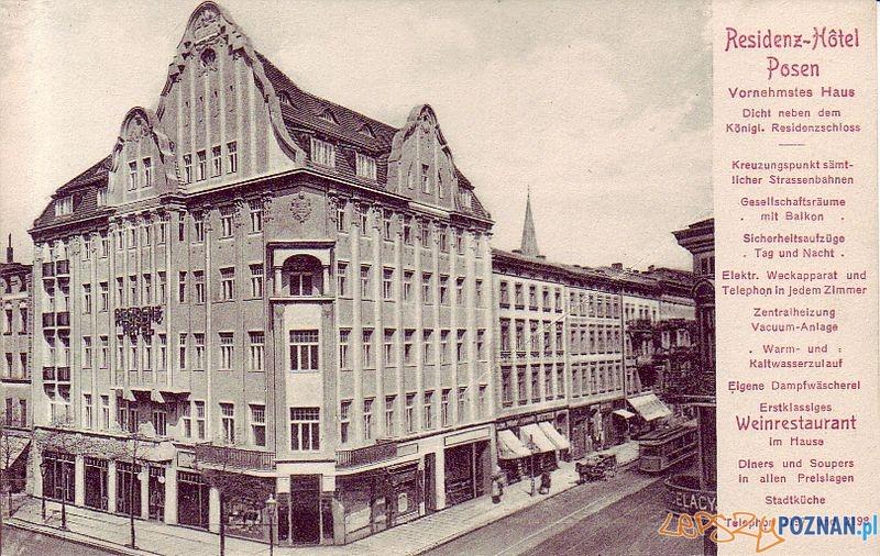 Św. Marcin 74 Residenz Hotel  Foto: Muzeum Narodowe w Poznaniu, wystawa Miejska ikonosfera na drukach reklamowych z widokami Poznania 18