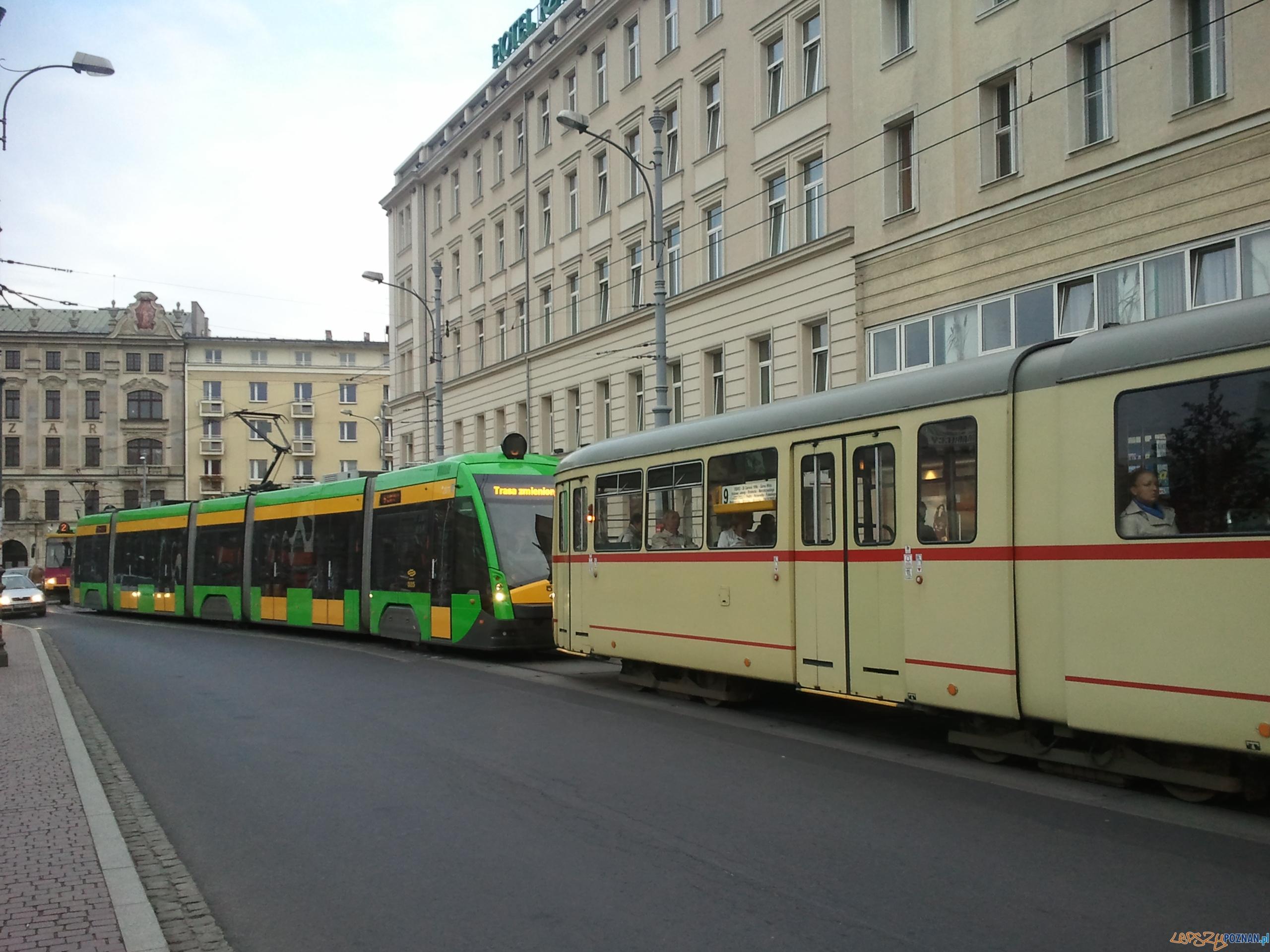 korek tramwajowy - archiwum redakcji  Foto: lepszyPOZNAN.pl /