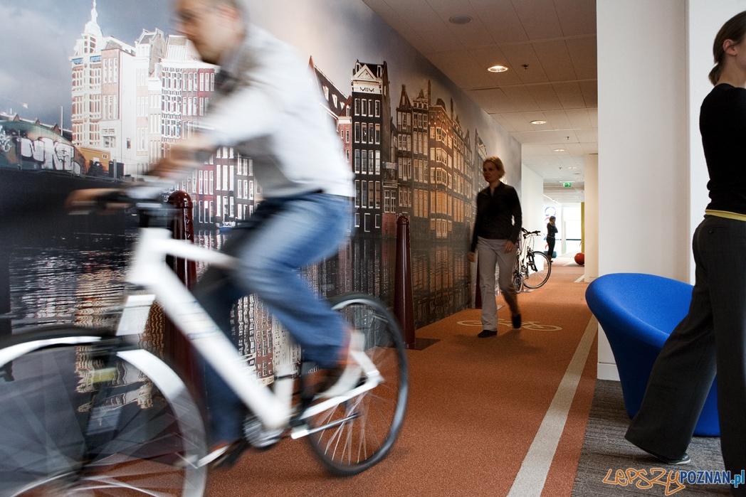 Rowerowy hall w biurze Google'a w Holandii  Foto: Google