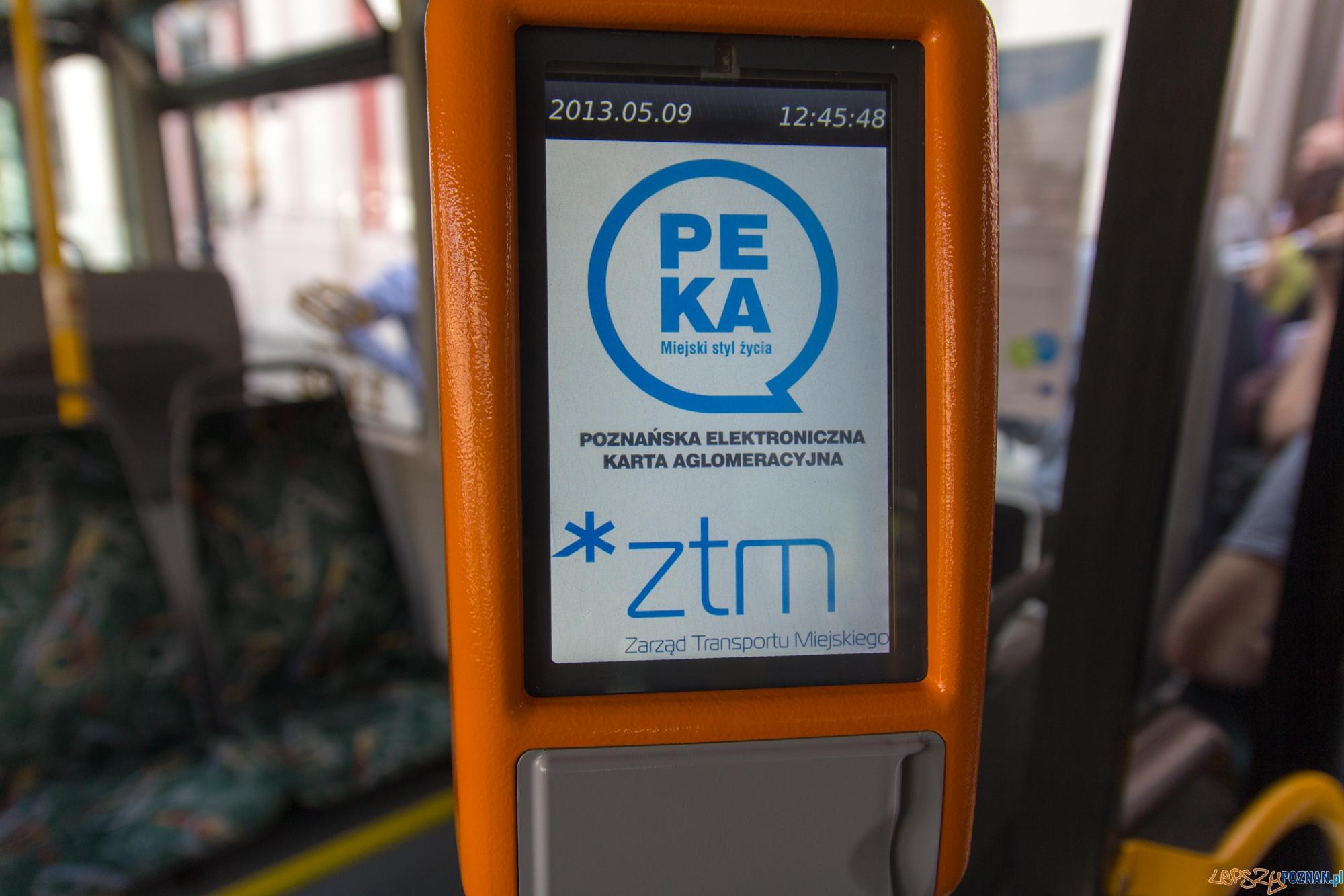 Czytnik systemu PEKA  Foto: lepszyPOZNAN.pl / Piotr Rychter