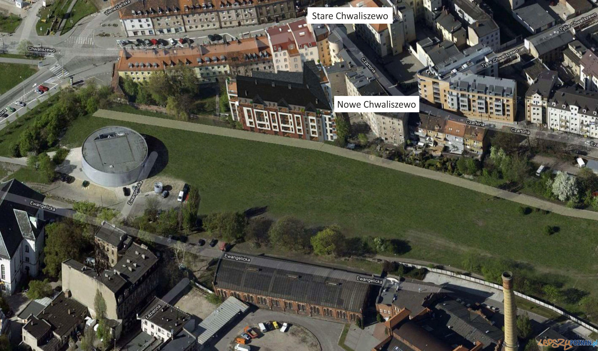 Park w starym korycie Warty  Foto: