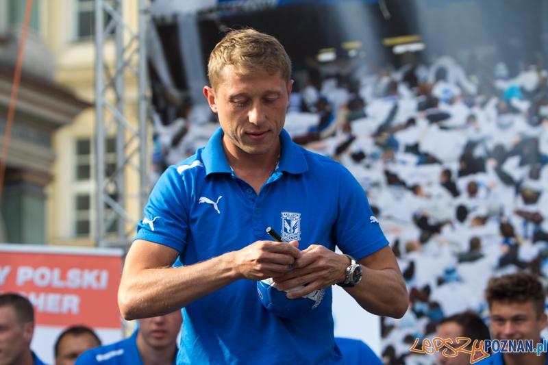 Prezentacja pierwszej drużyny Lecha Poznań - Rafał Murawski - Stary Rynek 16.07.2013 r.  Foto: lepszyPOZNAN.pl / Piotr Rychter