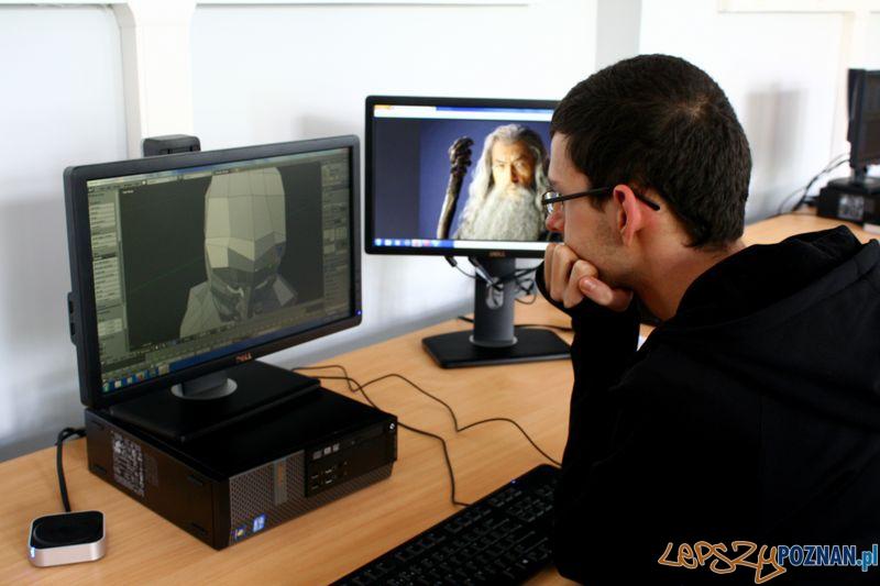 Laboratorium Technik Informatyk. Projektowanie 3D.  Foto: Przemysław Kozakiewicz