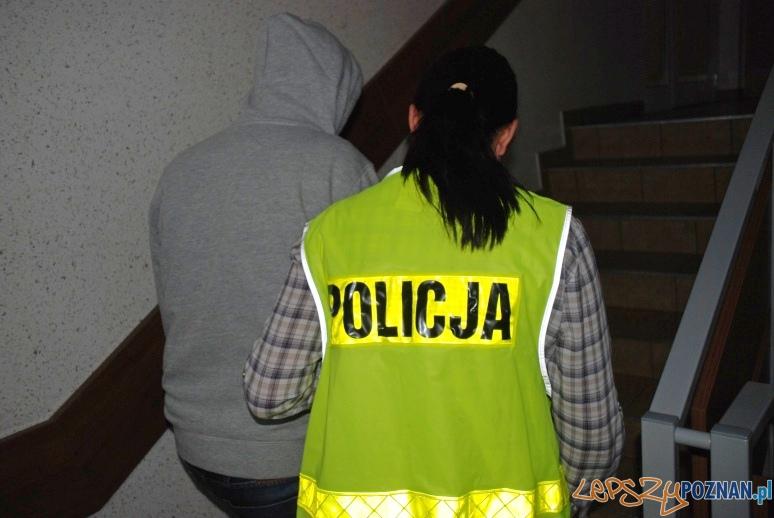 Złodziej w rękach policji  Foto: KMP