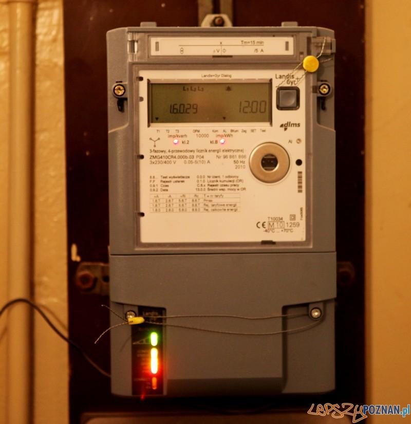 Licznik prądu  Foto: Policja