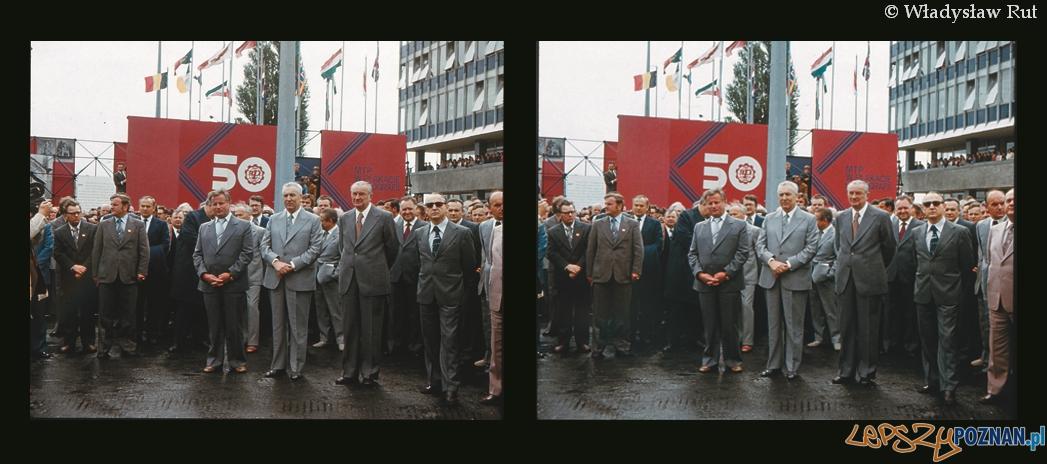 Oficjalne otwarcie 50 Międzynarodowych Targów Poznańskich w 1978  Foto: Władysław Rut