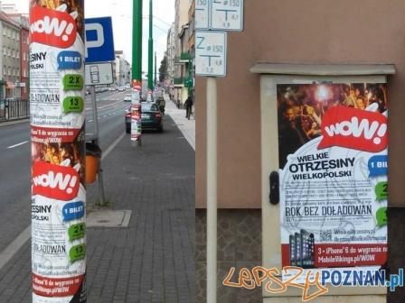 nielegalne plakaty WOW  Foto: facebook.com / Ania bączek