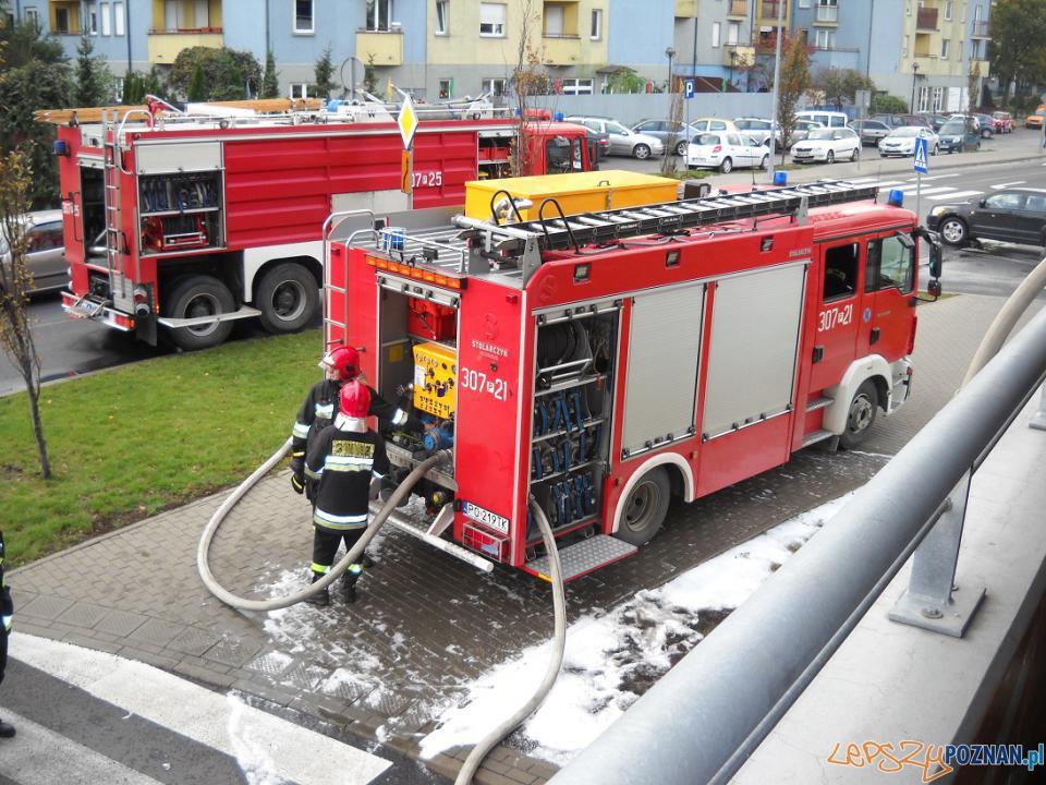 Samochód palił się parkingu  Foto: JRG 7