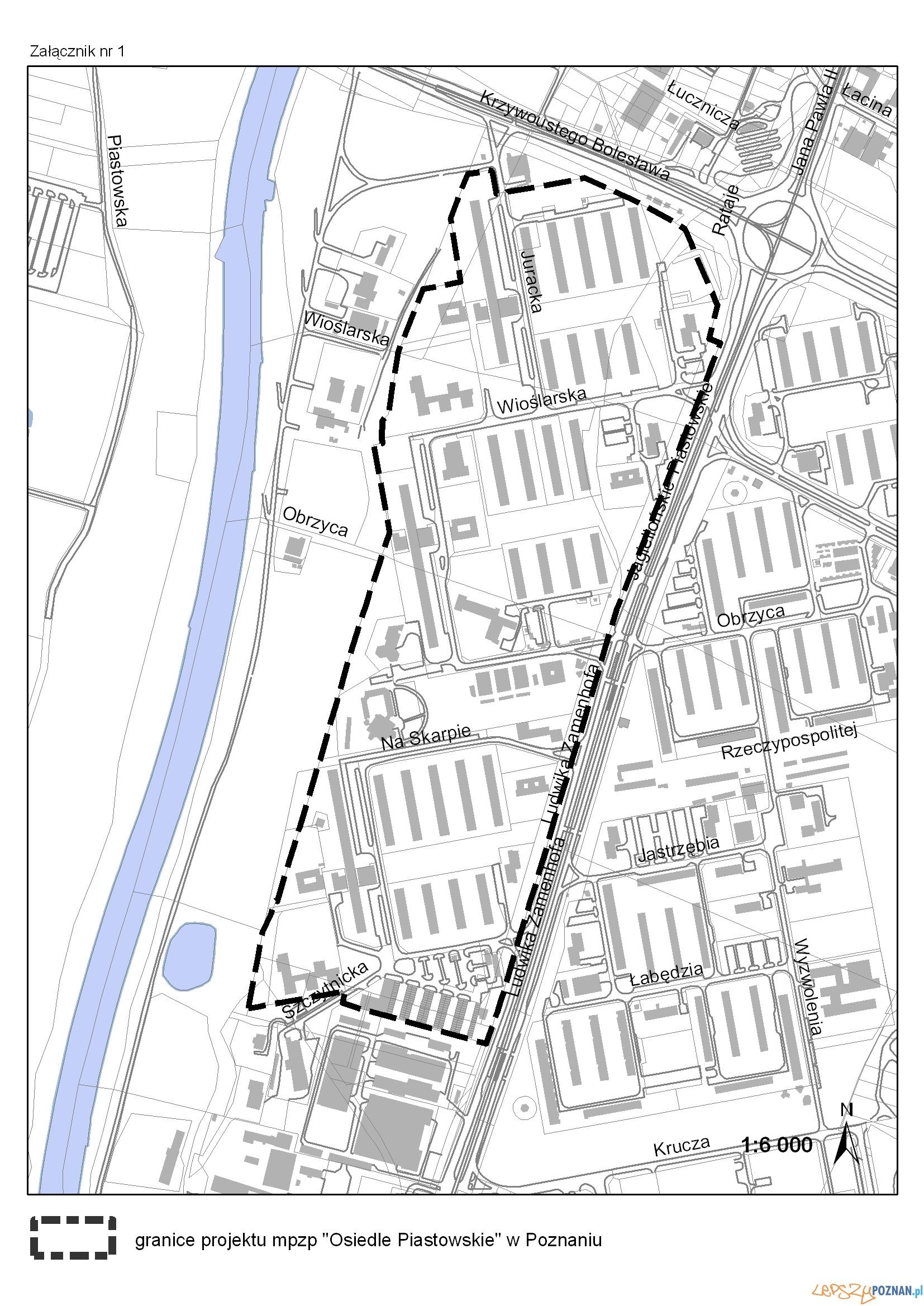 Granice planu - Osiedle Piastowskie  Foto: UMP