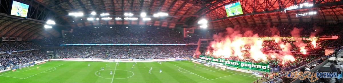 Oprawa w trakcie meczu Lech - Legia - Poznań 22.03.2015 r.  Foto: LepszyPOZNAN.pl / gsm