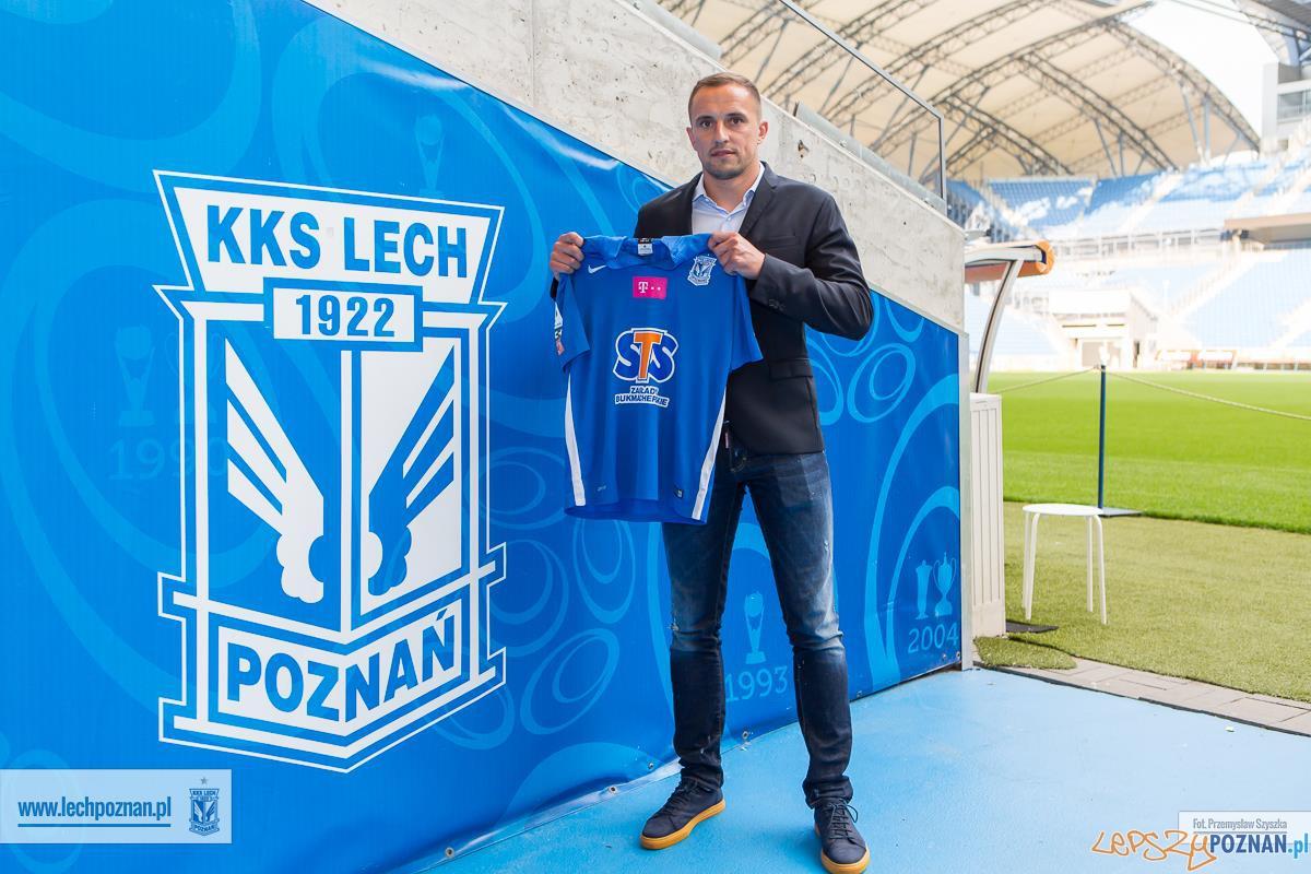 Dariusz Dudka, były zawodnik Wisły Kraków, podpisał właśnie 3-letni kontrakt z Lechem Poznań  Foto: Lech Poznań / Przemysław Szyszka