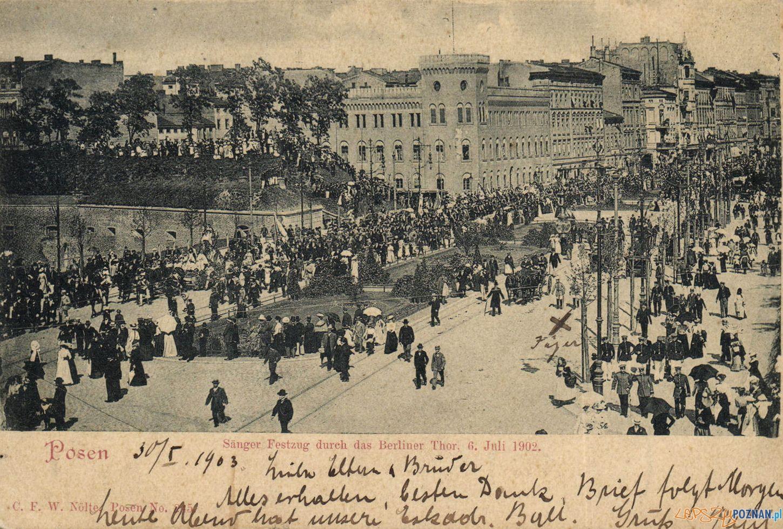 6 lipca 1902 Zjazd Śpiewaczy w Poznaniu  Foto: Biblioteka Uniwersytecka