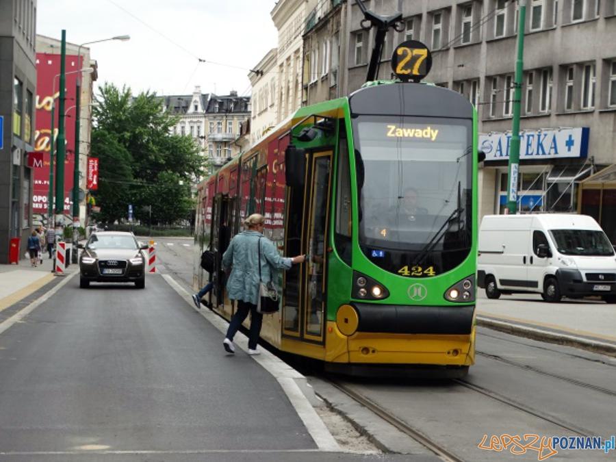 Przystanki wiedeńskie przy ul. Strzeleckiej  Foto: ZTM Poznań