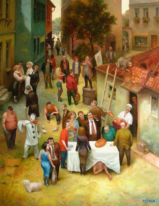 """Jarosław Miklasiewicz - """"Chleb"""" 92x73 cm 2005 r. olej na płótnie  Foto:"""