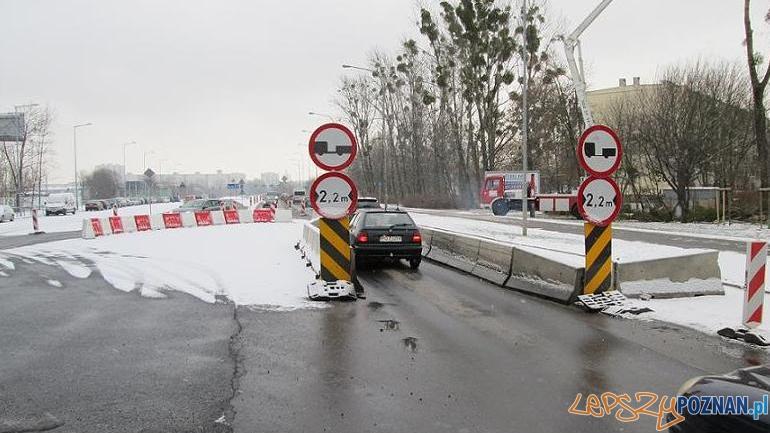Łatwiejszy wyjazd z ronda Rataje  Foto: ZDM