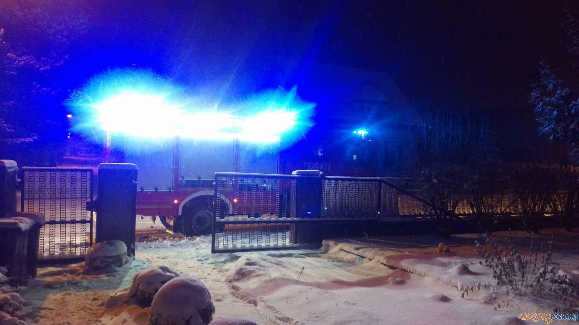 Zapaliła się sadza w kominie  Foto: Marek / OSPLuboń, Bartosz / Szkoła Aspirantów PSP w Poznaniu