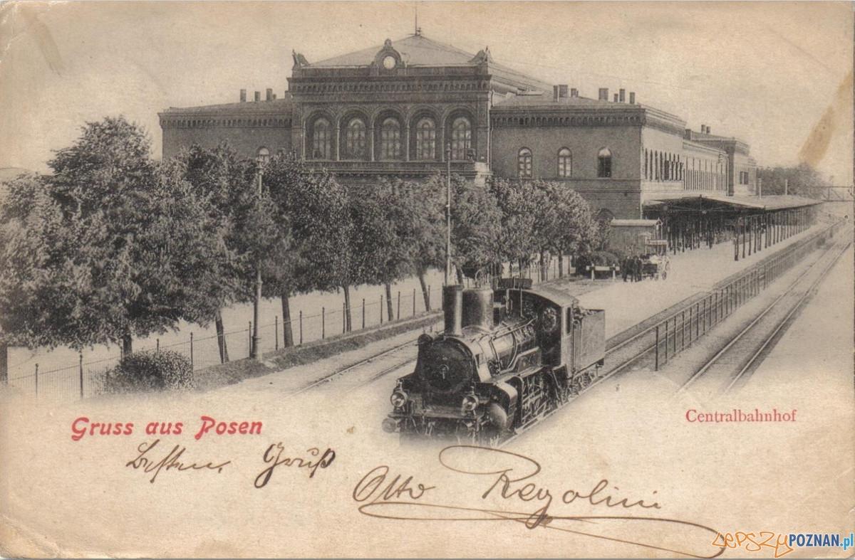 Dworzec PKP - pocztówka z początku XX wieku Foto: Biblioteka Uniwersytecka
